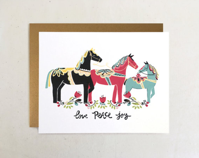 Christmas cards from the Paper Pony Co.