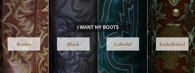 decide on your cowboy boot personality