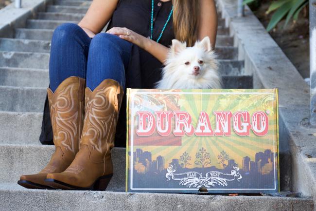 Durango cowboy boots and Mango