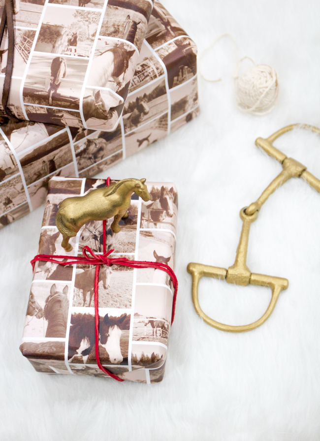 horse print wrapping paper