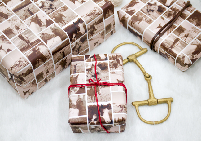 Horse Wrapping Paper with Minted