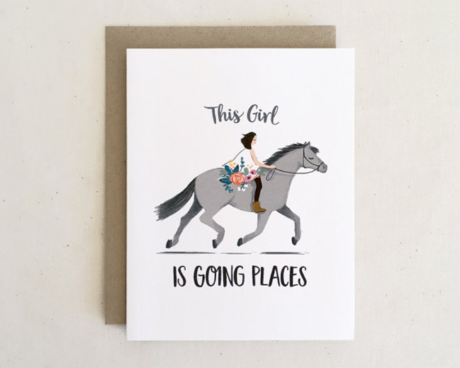 This girl is going places card