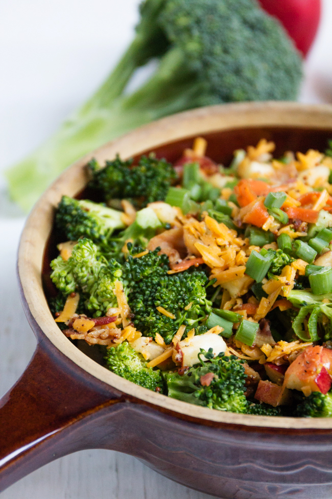 Broccoli Bacon and Cheddar Salad