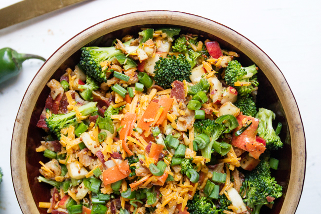 Broccoli, Bacon, & Cheddar Salad