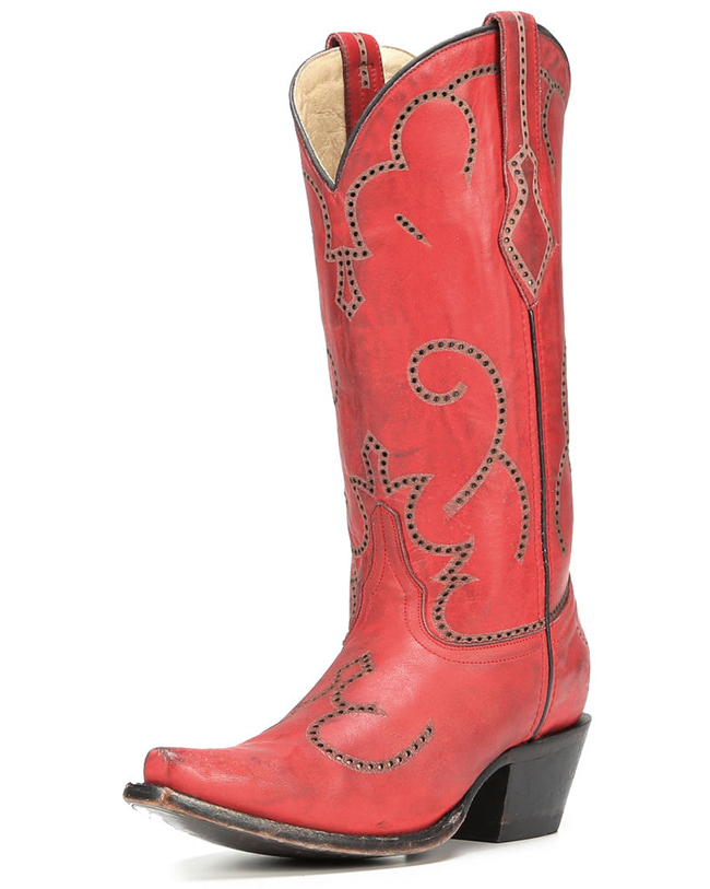 Corral Red Snip Toe Boots