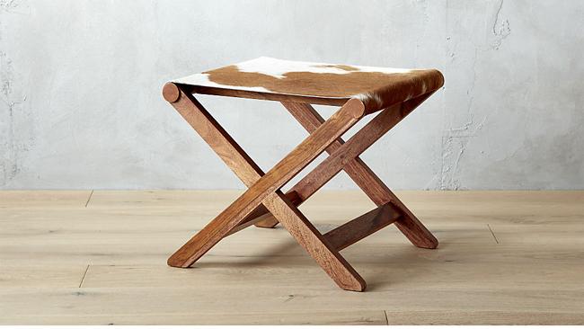 curator cowhide stool