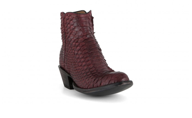 Lucchese python burgundy boots
