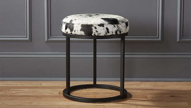 Terrific New Cowhide Furniture From Cb2 Horses Heels Machost Co Dining Chair Design Ideas Machostcouk