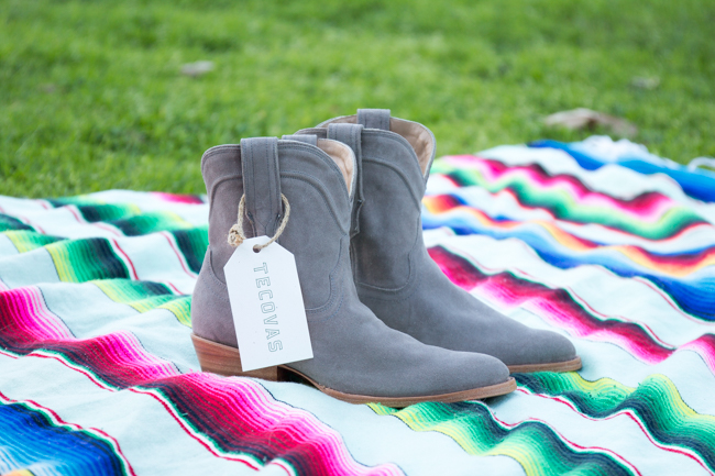 The Lucy Boot by Tecovas in gray suede