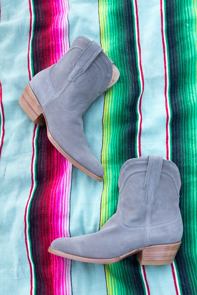 Gray suede Tecovas Lucy Boot