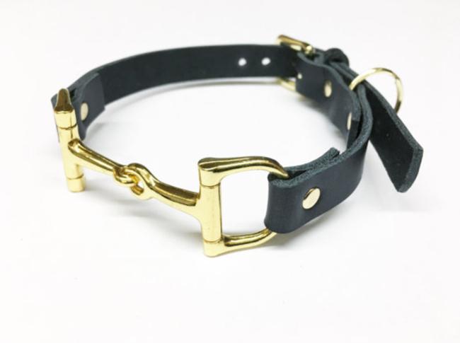 horse bit hardware dog collar