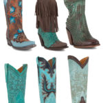 6 Pairs of Turquoise Boots for Spring