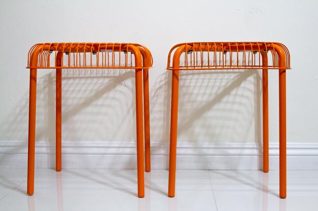 IKEA orange stools