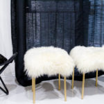 Easy DIY Sheepskin Stools