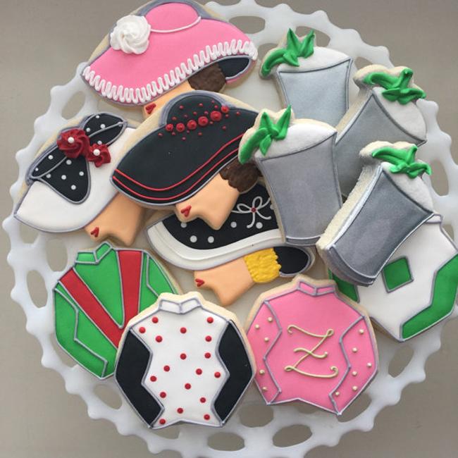 Kentucky Derby sugar cookies