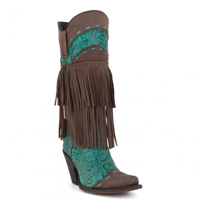 Liberty Black brown and turquoise