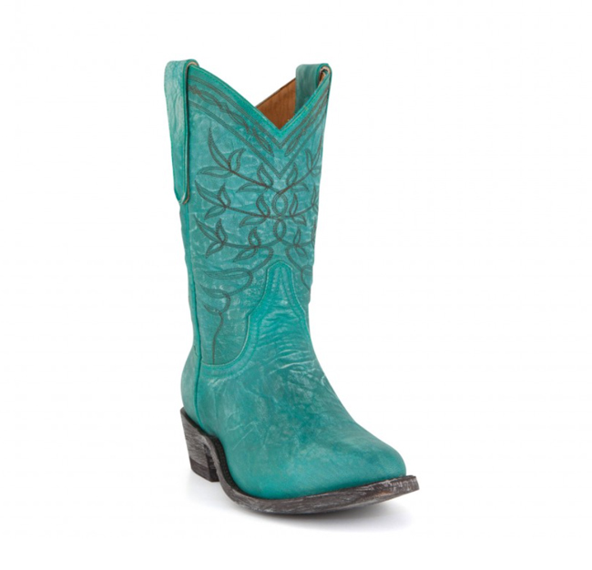 Old Gringo Polo boots in turquoise