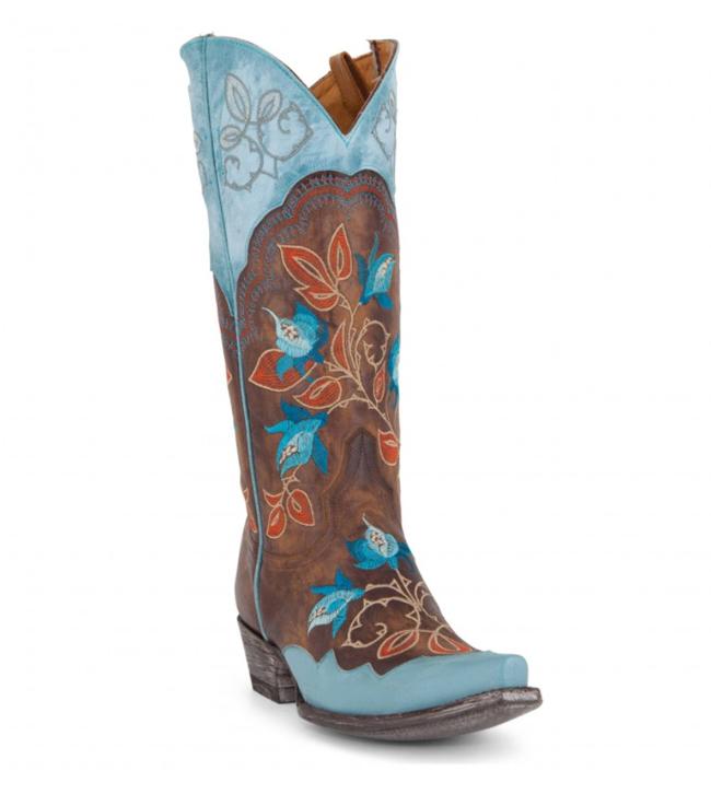 Old Gringo Vivien Boots Vesuvio Brass