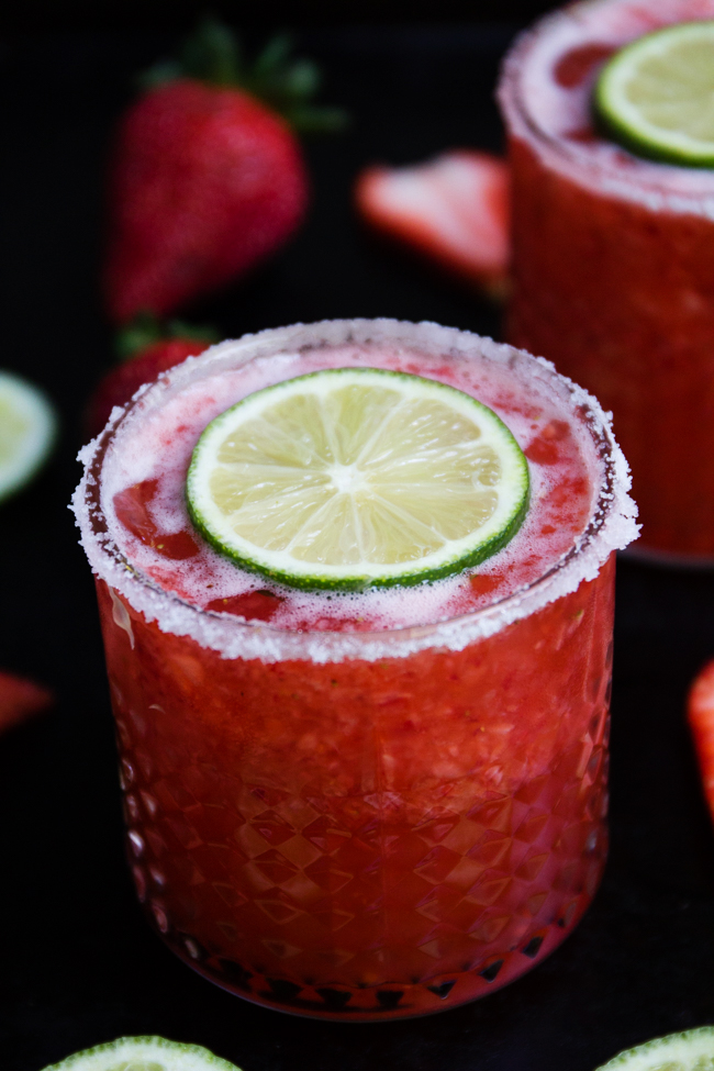 Strawberry Beer Margaritas are delicious