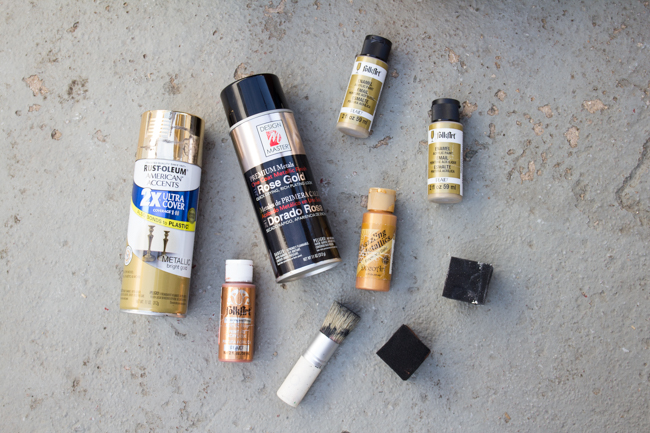 gold and metallic paints