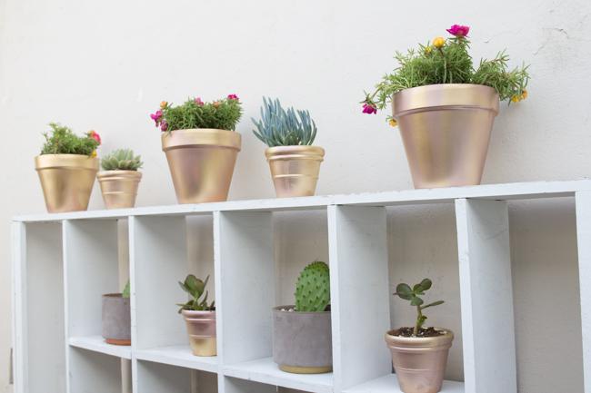 Easy DIY Metallic Pots
