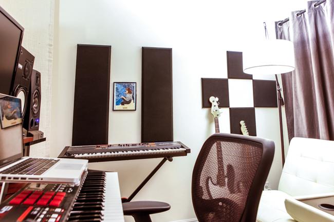 Adam's home studio