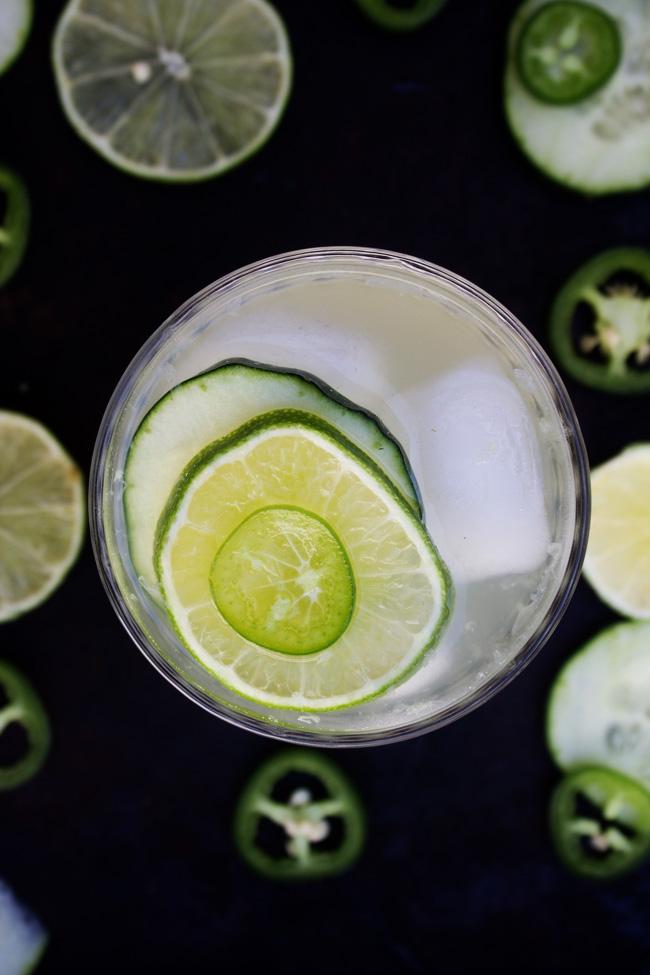 Cucumber Jalapeno Limeade drink