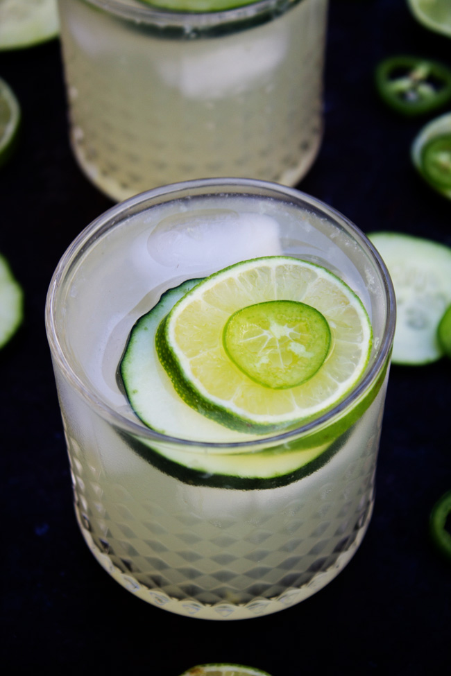 Cucumber Jalapeno Limeade drinks