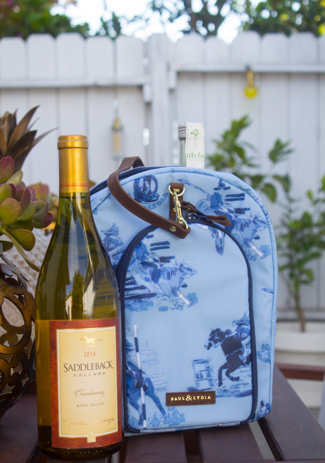 Paul & Lydia western print wine travel bag