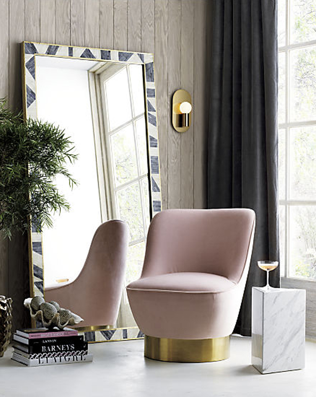 blush chair from CB2