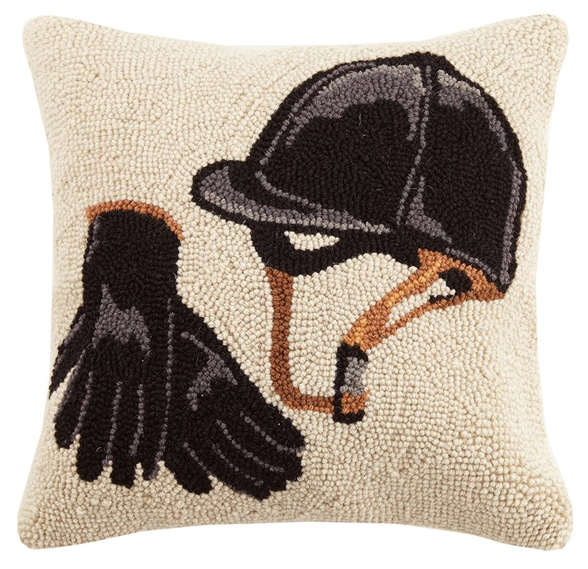 equestrian gear wool throw pillow