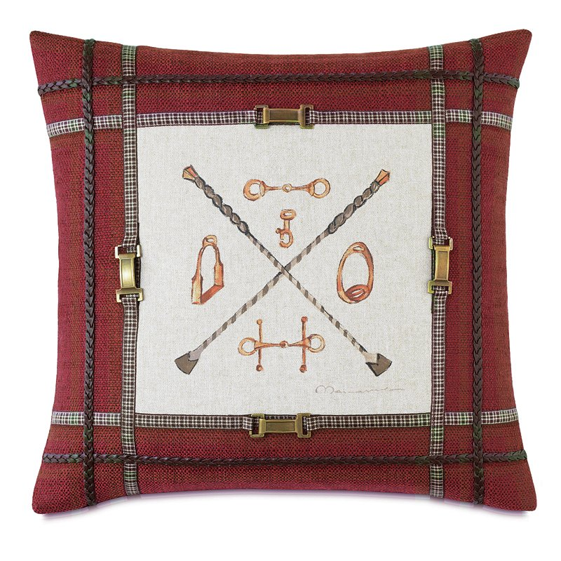 equestrian bits and accessories throw pillow