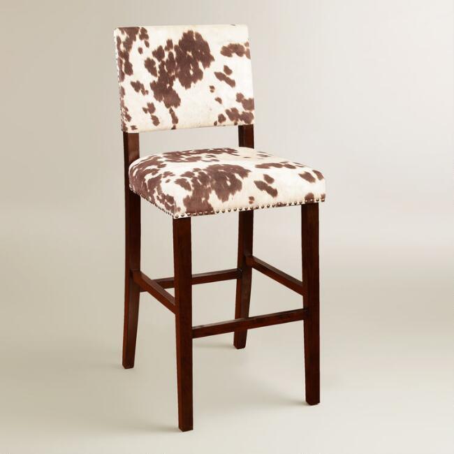 cow print bar stool