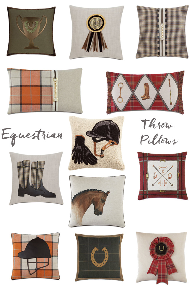 equestrian throw pillows from Wayfair