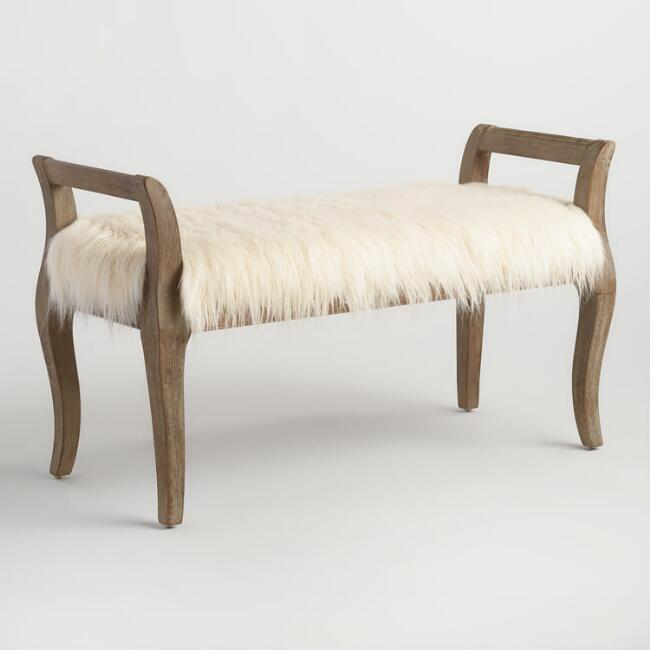faux fur bench from World Market