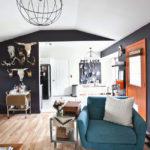 Steer Skull + Bar Cart Home Decor Inspiration
