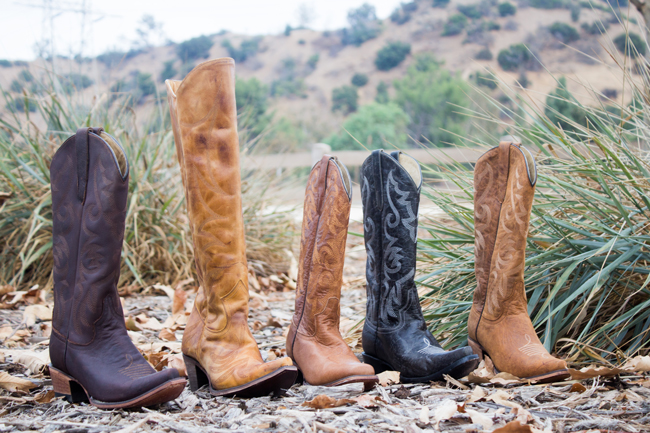 FM 1101 cowboy boots in black and brown