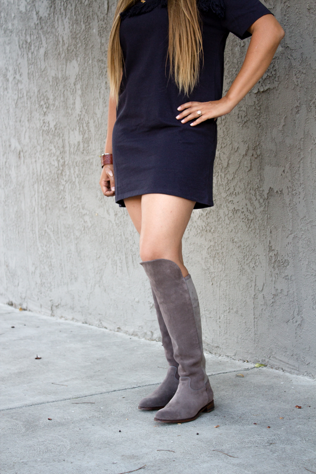 Ariat Two24 boots and mini dress for fall