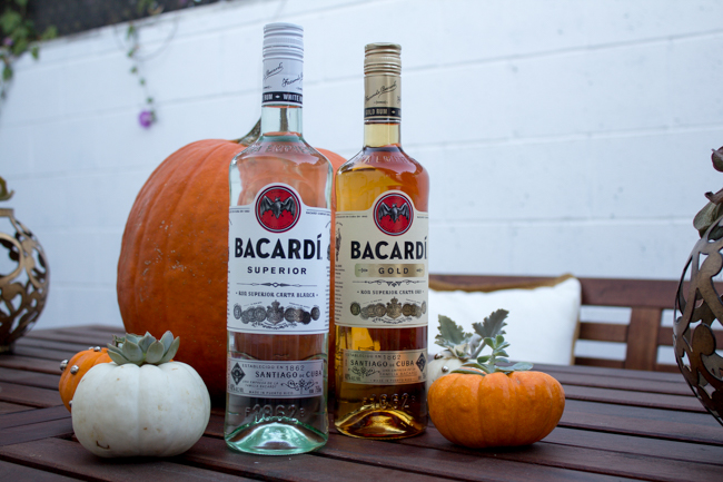 Bacardi Superior and Bacardi Gold for Halloween