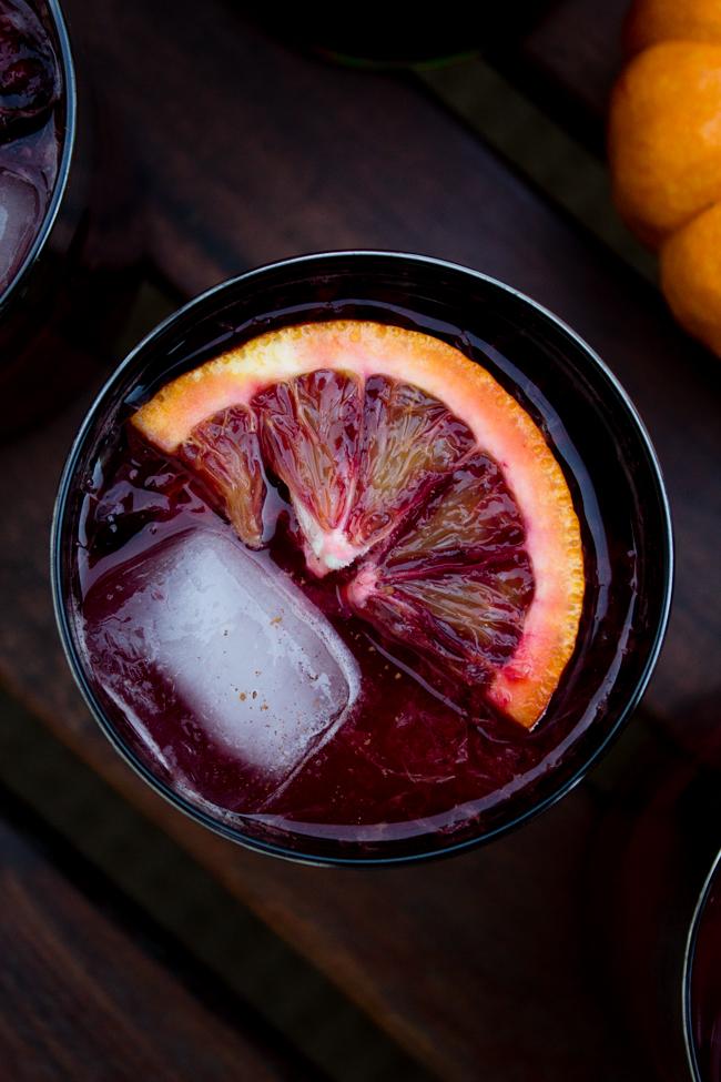 Blood orange and cherry Halloween mojito