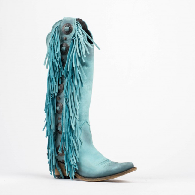 Turquoise + Fringe Tall Boots You Need In Your Closet