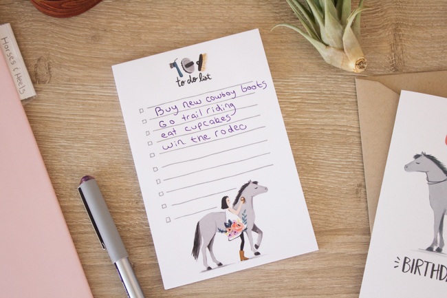 Paper Pony Co. to do list