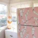 My DIY Rental Friendly Pink Fridge