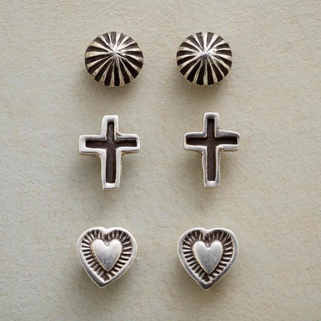 sterling silver set of earrings