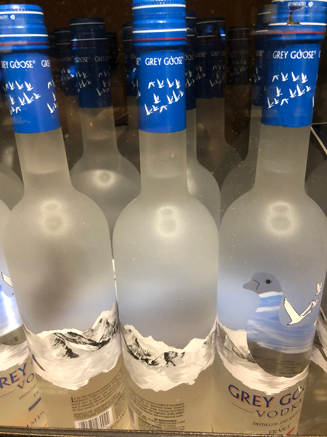 Grey Goose at the grocery store