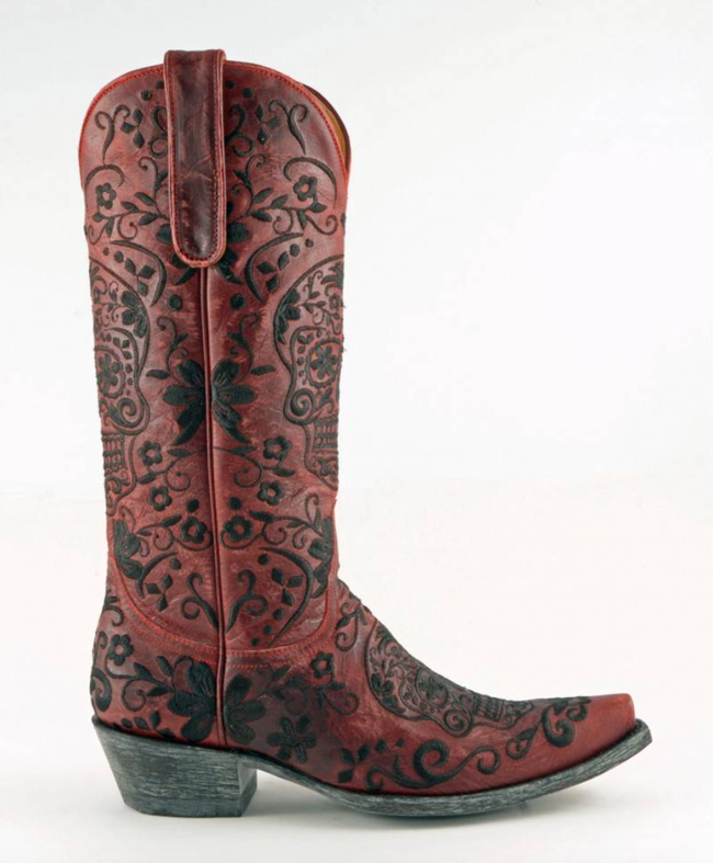 Old Gringo Klak Boots in Vesuvio Red