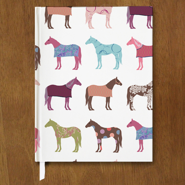 fun horse pattern equestrian journal