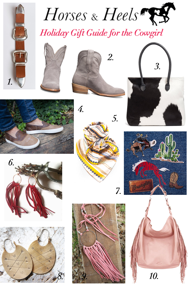 gift guide for the cowgirl by Horses & Heels