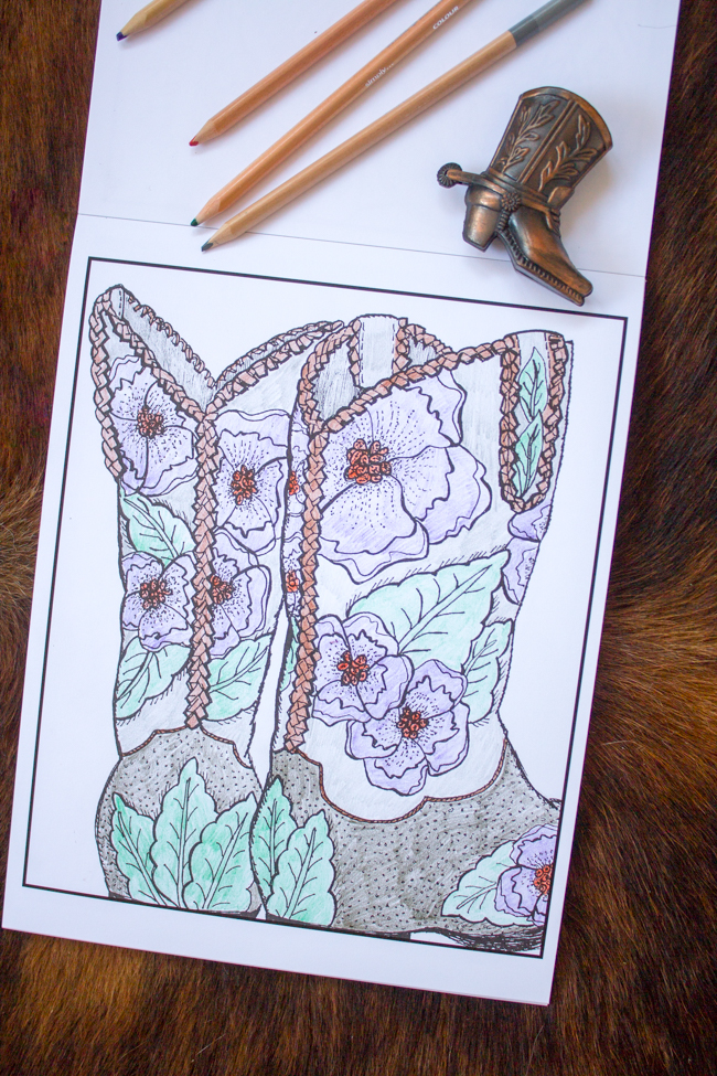 Colors Of A Cowgirl coloring book