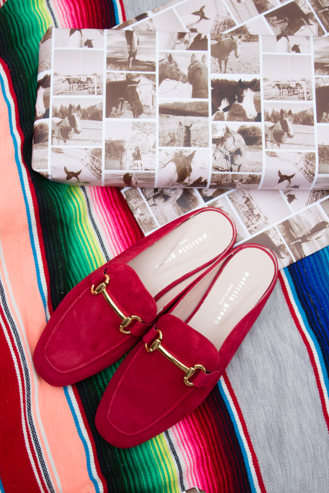 beautiful red loafers by Patricia Green